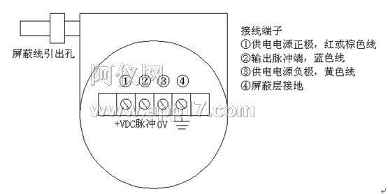 2接线端子位于检测放大器一侧