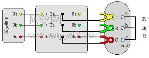 电压测量uab,uca和ucb三相电压值,结果为三相的平均值;功率损耗只测量