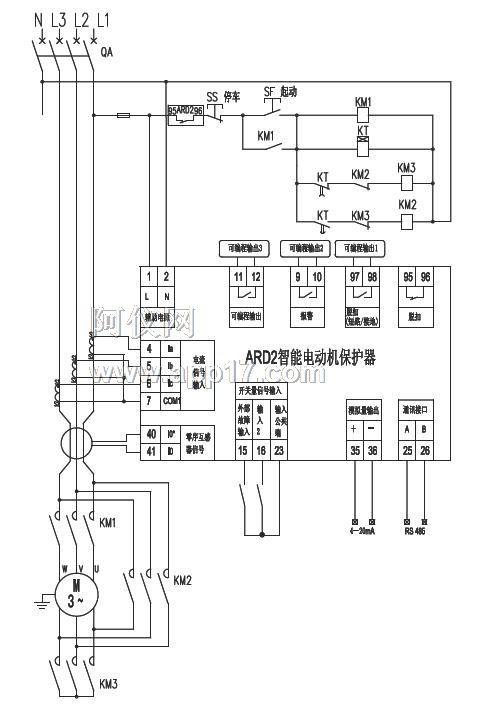 不控制电动机起,停),接触器km的吸引线圈串进脱扣继电器的常闭触点中.